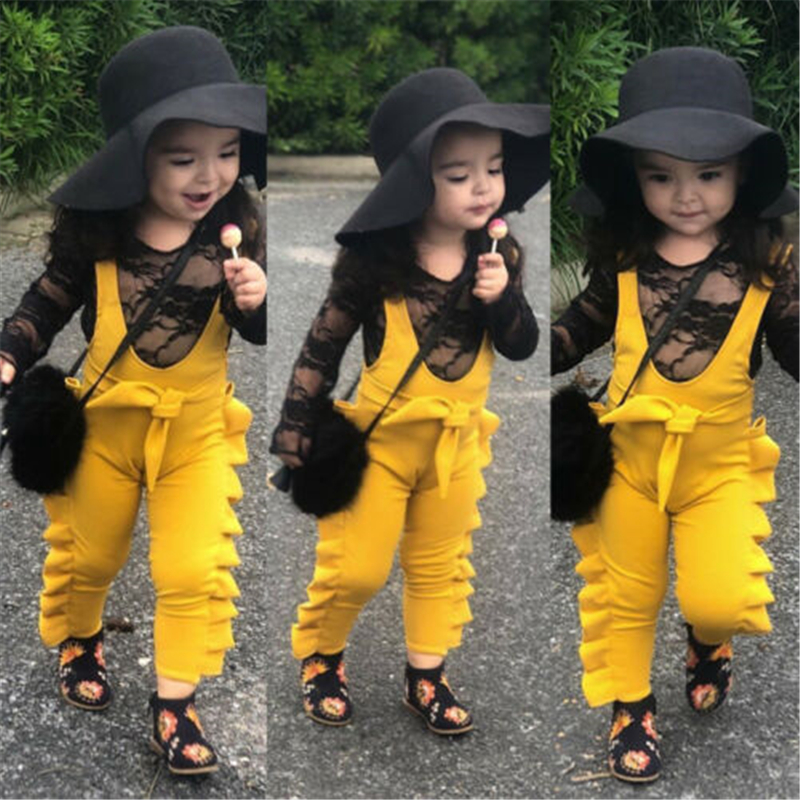 Infant Newborn Baby Girl Cotton Lacework Bodysuit Romper Jumpsuit Outfit Clothes