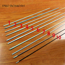 Pro Bomesh 5 PCS/Lot 30 cm-42 cm 1 Section solide Fiber de verre glace tige blanc radeau tige pointe réparation pointe bricolage tige bâtiment réparation(China)