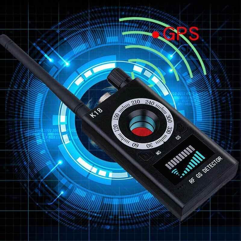 K18 متعددة الوظائف مكافحة جهاز كشف الكاميرات GSM الصوت علة مكتشف لتحديد المواقع إشارة عدسة RF المقتفي كشف المنتجات اللاسلكية 1 MHz-6.5 GHz r60
