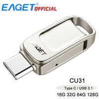 Eaget CU31 OTG USB3.1-Stick Mini Flash Disk Typ-C High Speed Pendrive 16G 32G 64G 128G Typ-C Interface USB-Sticks