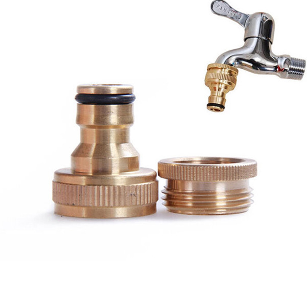 "3/4"" To 1/2"" Inch Brass Garden Faucet Hose Tap Water Connector Adaptor Fitting"