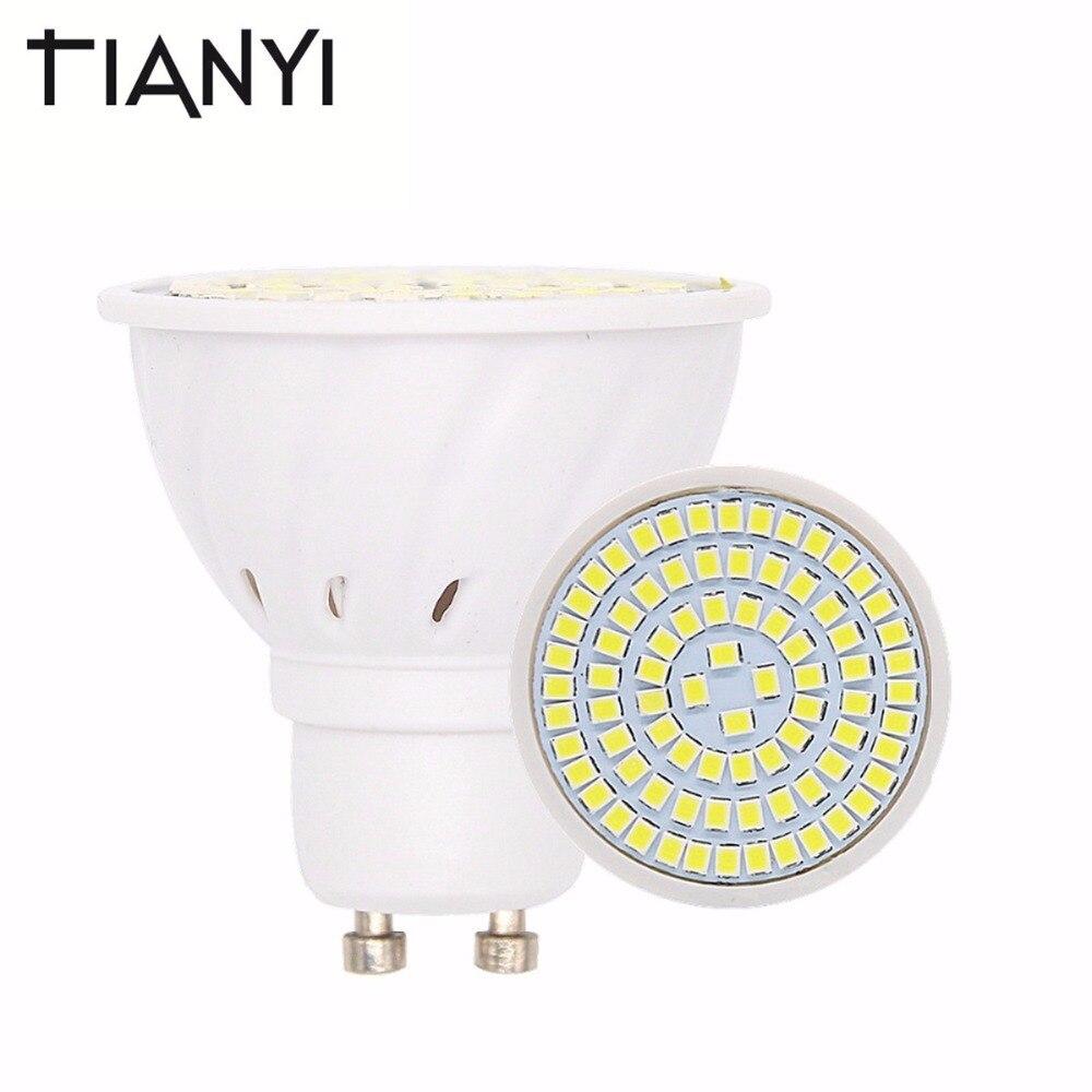 GU10 LED Lamp 220V 2835 Lampada LED Bulbs Spot Light 48LED 60LED 80LED Bombillas LED Spotlight GU 10 Candle Lamparas 10pcs/lot gu longzhong led