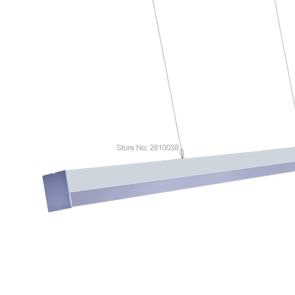 15-30 sets/lot U style suspension linéaire led lumière supermarché 1.2 m 2.4 m led logements lumière linéaire pour bureau ou center commercial lumières