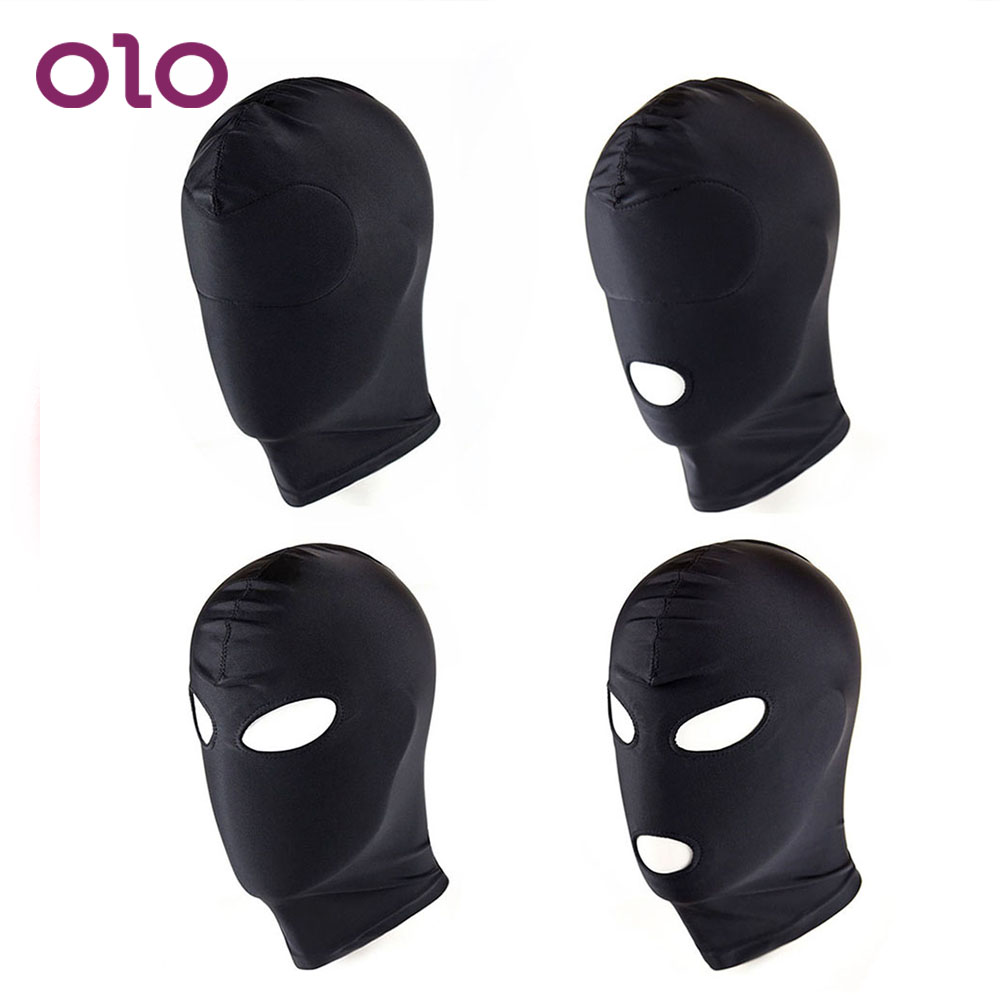 OLO 1 Piece Sexy Head Mask SM Bondage Restraint Hood Mask Sex Headgear Soft Slave Adult Games Sex Toys for Couple Erotic ToysOLO 1 Piece Sexy Head Mask SM Bondage Restraint Hood Mask Sex Headgear Soft Slave Adult Games Sex Toys for Couple Erotic Toys