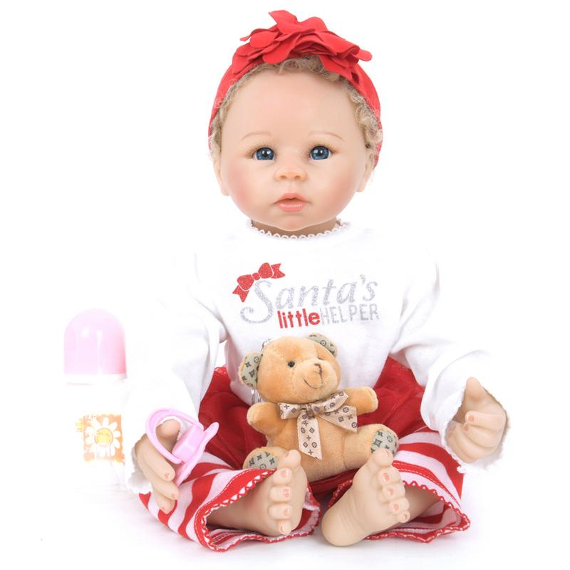 55CM Simulation silicone reborn baby dolls toy newborn baby girl birthday gifts soft vinyl Girl Doll 55cm 22inch lovely baby reborn doll toy soft vinyl silicone reborn baby dolls finished doll