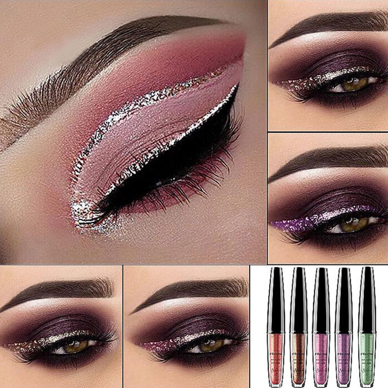 Beauty & Health Beauty Essentials Amicable Pigment Silver Rose Gold Color Liquid Glitter Eyeliner Cheap Makeup Cosmetics For Women Professional New Shiny Eye Liners
