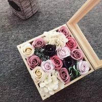 Valentine Wedding Mothers Day Plush Bear Party, Festival, etc Shape Flower, Soap Rose Gift Cartoon Set Bow Knot