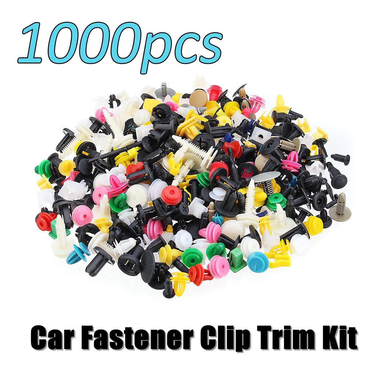 500Pcs Universal Mixed Auto Fastener Car Bumper Clips Retainer Push Engine Cover Car Fastener Rivet Door Panel For Fender Liner