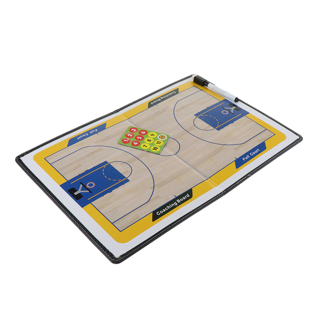 Magnetic Basketball Strategy Boards Durable Basketball Clipboard Foldable Basketball Training Marker Board