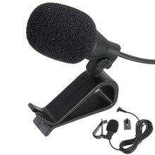 CLAITE портативный Проводной 3,5 мм клип-на лацкане автомобильный аудио микрофон Микрофон Стерео внешний микрофон для ПК динамик мини