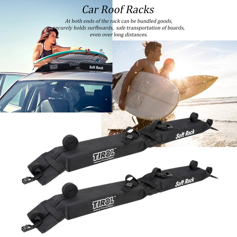 Universal Auto Soft Car Roof Rack Outdoor Rooftop Luggage Carry Load 60kg Baggage Easy Fit Removable 600D Oxford PVC Roof Racks