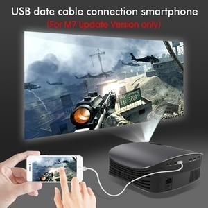Image 4 - 70% قبالة BYINTEK M7 LED كامل HD 1080P 3D 4K المسرح المنزلي سينما الفيلم عارض فيديو Projektor متعاطي المخدرات ل كمبيوتر لوحي (تابلت) وهاتف ذكي PC