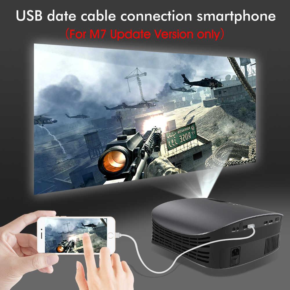 BYINTEK LED Proyektor M7 ,200Inch Home Theater Beamer,LED Projector untuk Iphone SmartPhone Full HD 1080P 3D 4K