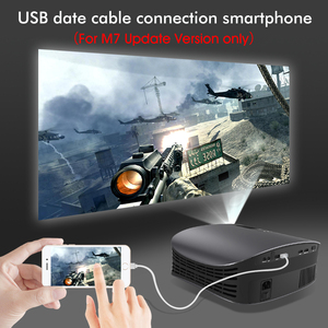 Image 4 - Free Screen 100inch BYINTEK M7 Full HD 1080P 3D 4K Home Theater Video Game LED Projector Beamer for SmartPhone Tablet