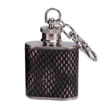 British Style Stainless Steel Hip Flask - Portable Liquor Whisky Alcohol Cap Funnel Drinkware Bottle 1-2oz