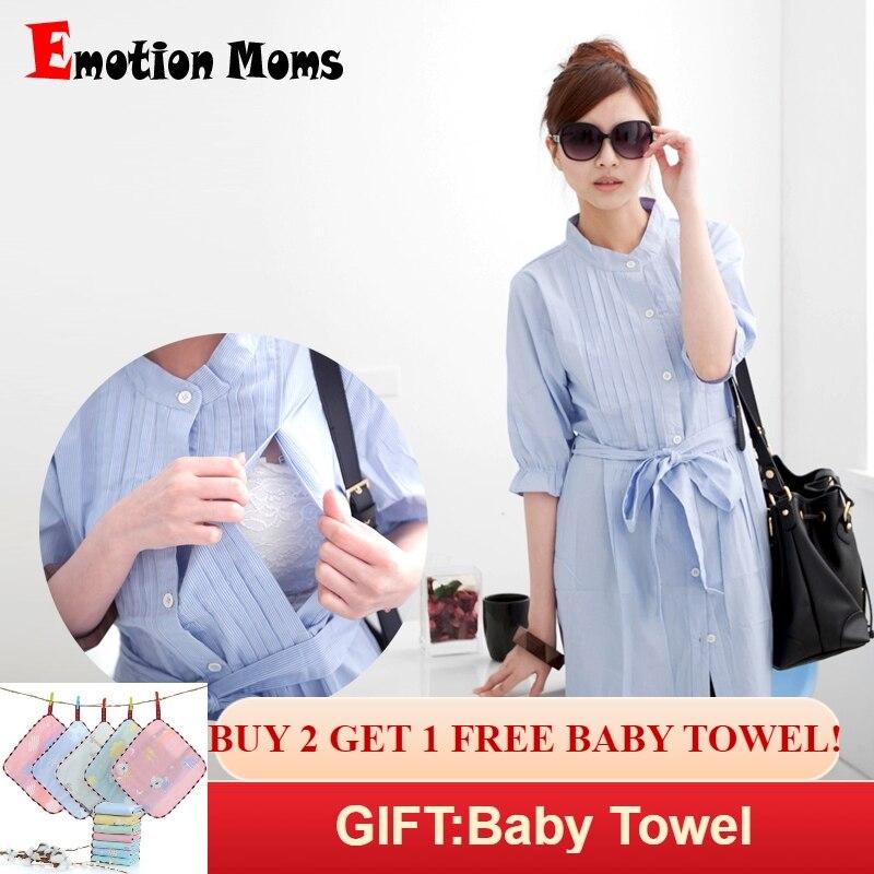 232c5c5fb00 Emotion Moms New stripe Maternity clothes Maternity tops Nursing  Breastfeeding top pregnancy for Pregnant Women Maternity shirt