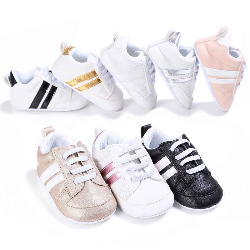 Pudcoco 2019 Baby Kid Crib Sportschoenen Unisex Baby Lace Up Soft Sole Casual Schoenen 0-18 m
