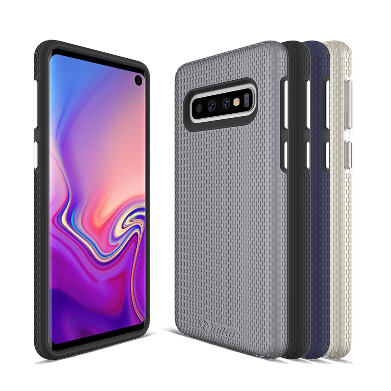 2 In 1 Protection Cases For Samsung Galaxy S10 S10e Shockproof Armor Covers S10 Plus Hybrid Hard PC Soft TPU Shell