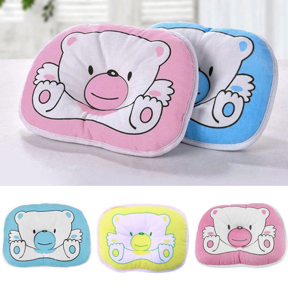Baby Infant Newborn Memory Foam Pillow Prevent Flat Head Anti Roll Support TY