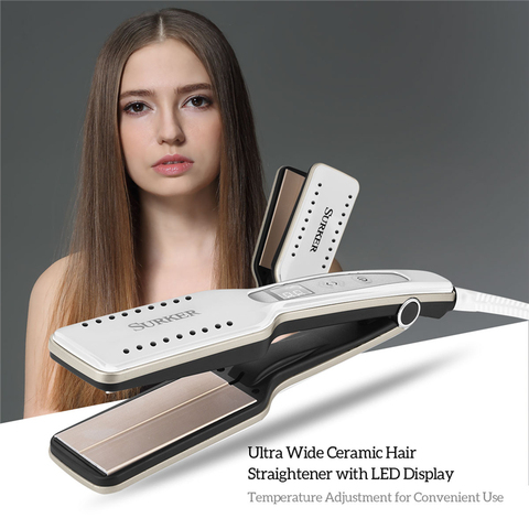 Ceramic Titanium Flat Iron Straightening Iron Hair Styling Tools Professional Straightener Adjustable Temperature  Hair Curler Pakistan