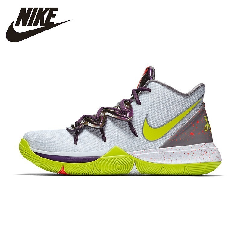 Nike Homem Sapato de Basquete KYRIE 5 EP Original Anti-slip Respirável Sports Sneakers # AO2919