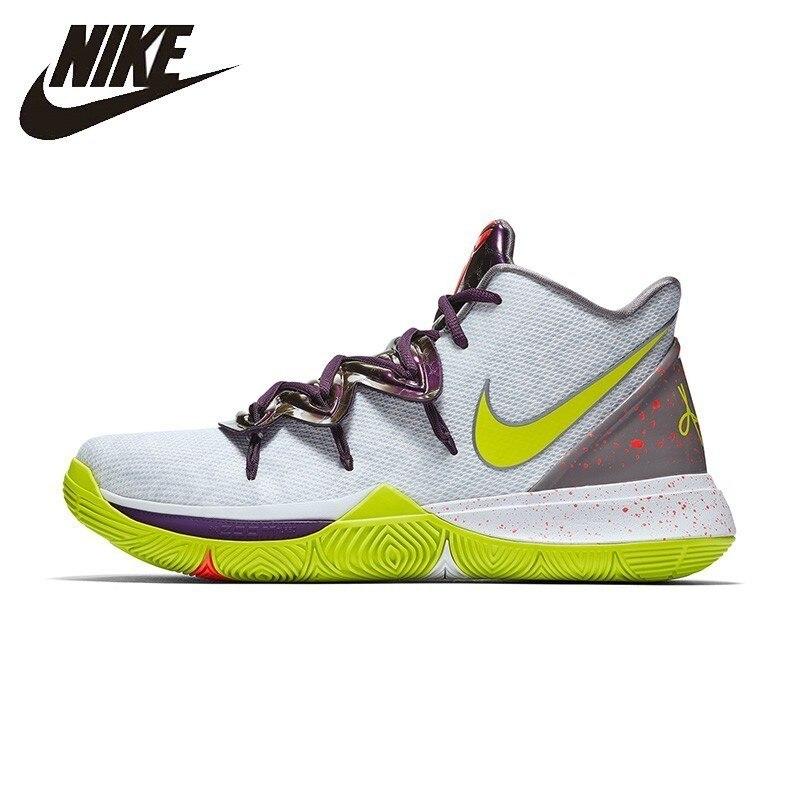 Nike KYRIE 5 EP оригинальные мужские баскетбольные кроссовки Нескользящие дышащие Спортивные кроссовки # AO2919