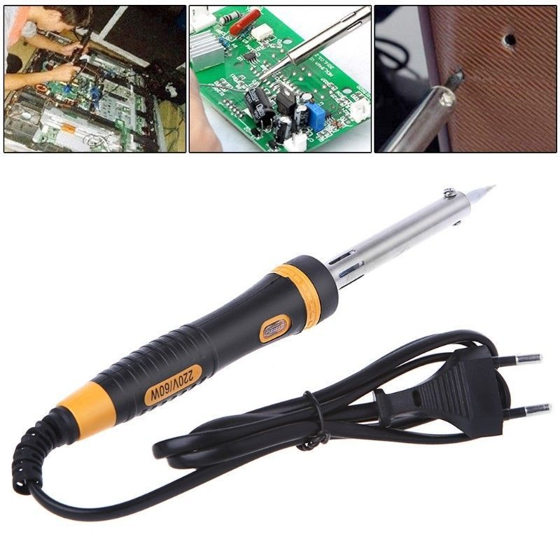 1pcs EU Plug 220V 60W Electric Soldering Iron Welding Solder Heat Pencil External Heated Soldering Iron Hand Solder Tool Kit Hot