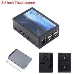 Mais recente 3 Raspberry Pi Modelo B + 3.5 polegada Tela Sensível Ao Toque 480*320 TFT LCD + Caso ABS Preto Cinza caixa também para Raspberry Pi 3