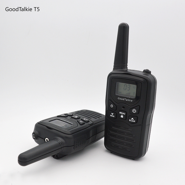 2pcs GoodTalkie T5 long range two way radios travel walkie talkie 10 km