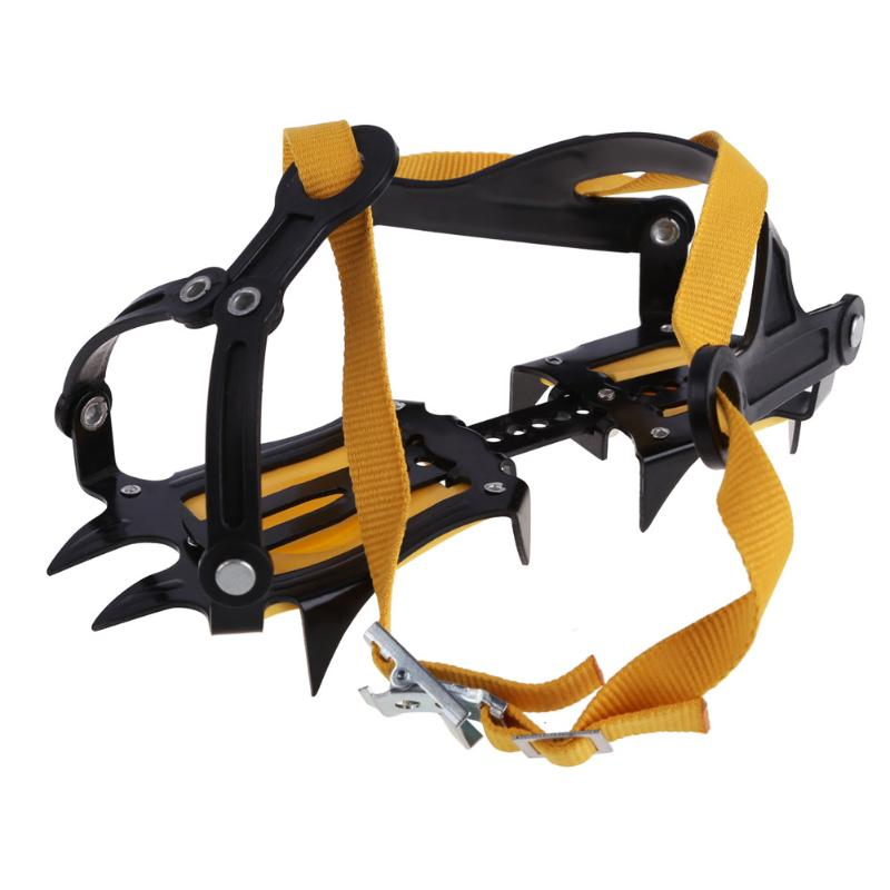 1 Pair Of Bundled Crampons Professional 10-point Manganese Steel Ice Gripper Ice Crampons Snow Board For Climbing Trekking Ski
