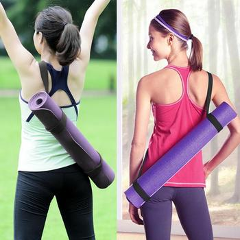 1pcs adjustable yoga mat strap weight belt black strap portable sports polyester belt fitness equipment gym shoulder strap