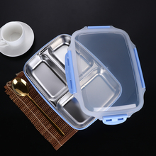 1100 ml Grote capaciteit Magnetron Verwarming Draagbare Servies Voedsel Opslag Container Rvs Lunch Box