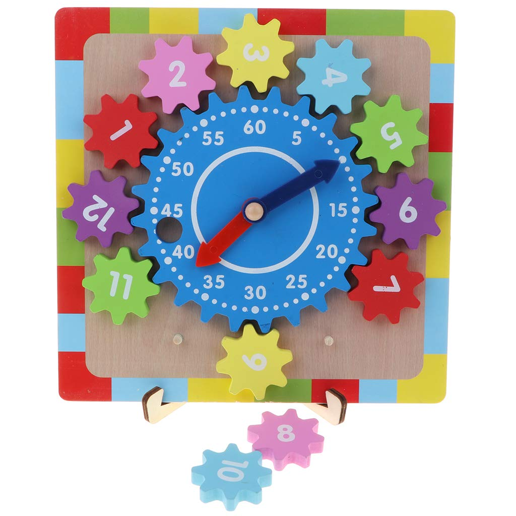Wooden Gear Clock 12 Number Blocks Matching Sorting Game Time Learning Educational Toy Birthday Gift For Children Baby Kids Puzzles Aliexpress