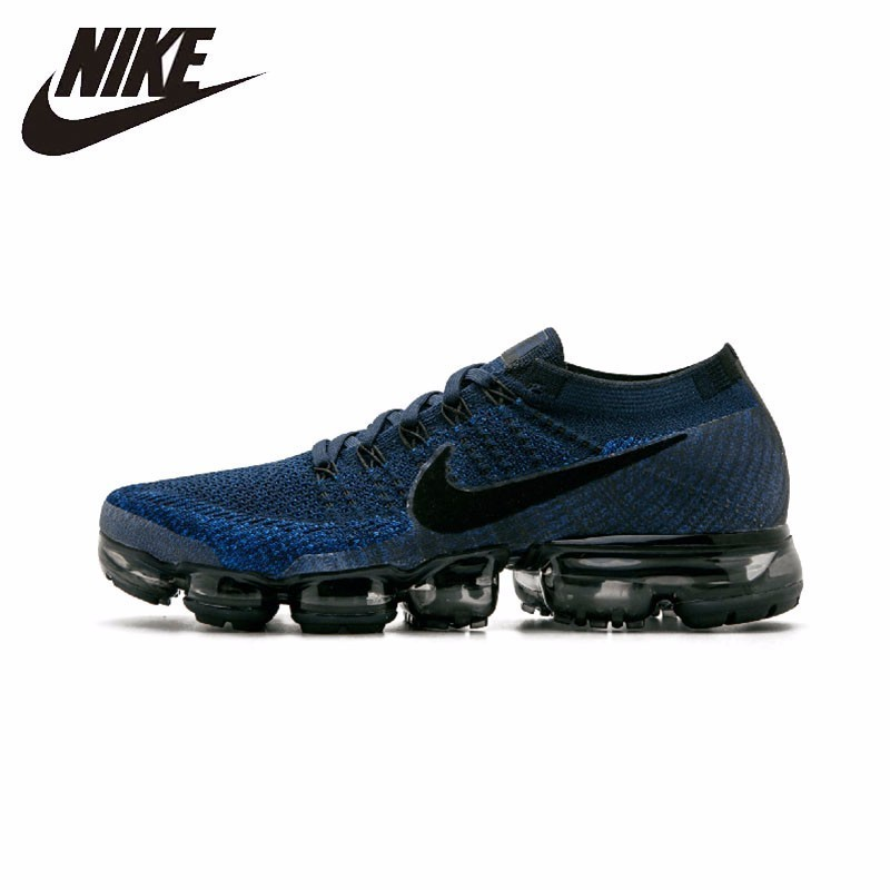 VAPORMAX NIKE FLYKNIT Tênis de Corrida dos homens Respirável Ao Ar Livre Não-slip Sports Sneakers #849558-400