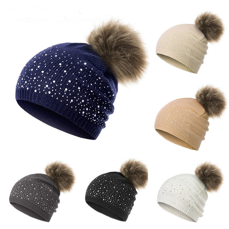 MLTBB Knitted Hat Cashmere Beanies-Cap Wool Autumn Winter Outdoor New Warm Letter Men