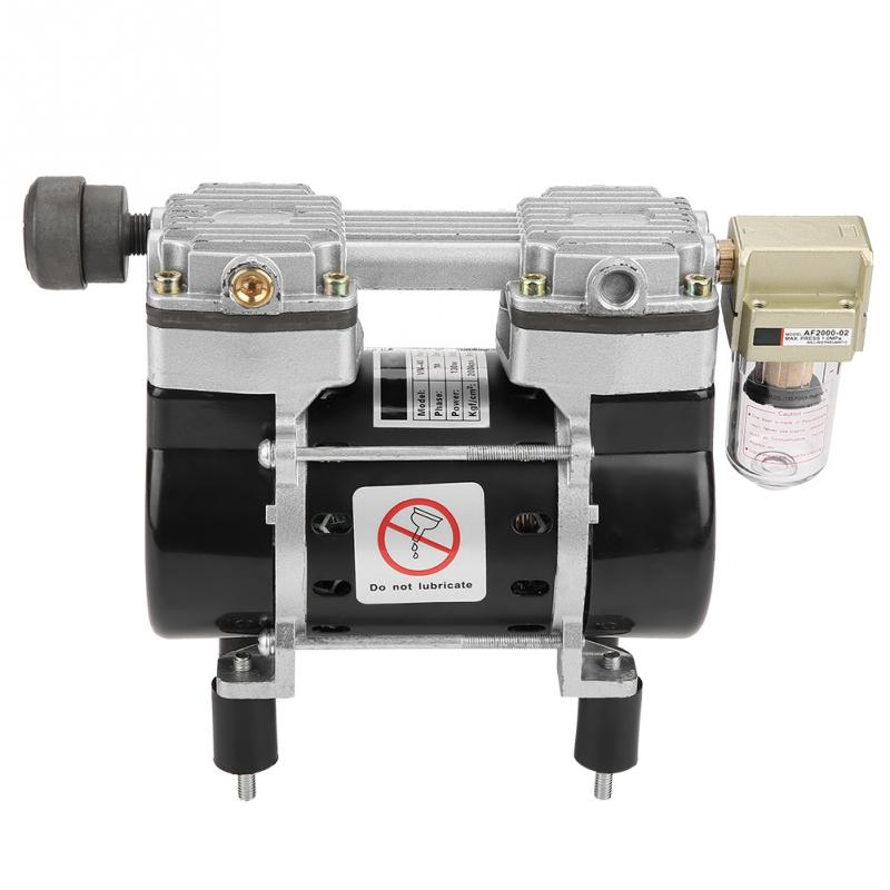 VN-40V Mini Oil-Free Air Compressor Motor Vacuum Built-in Silencer Pump 220V 130W Flow 36L/min Vacuum Air Pump