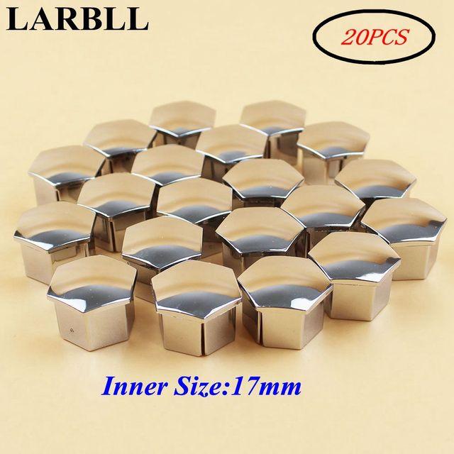 LARBLL tuerca de rueda Rim cubierta de tapa de tornillo Decoración Para Peugeot 207, 301, 307, 308, 408, 508, 3008 para Citroen c4l C5 C2 20 unids/pack