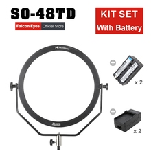 Falcon Eyes 48W LED Panel Dimmable High CRI95 3000-5600K Lighting Video Film Studio Photography Continuous Light SO-48TD kit set цена и фото