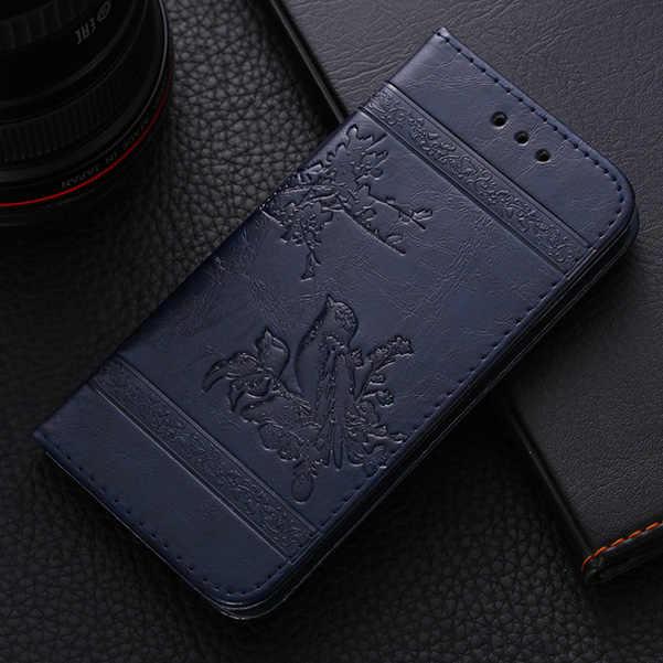 """AMMYKI de lujo de alta calidad de diseño fino flip stents de cuero de PU funda trasera de teléfono móvil 6,0 """"para vernee apollo x funda"""