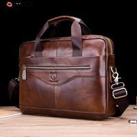 Luxury Designer Men Business Hand Bag Man PU Leather Shoulder Bags Genuine leather Laptop Bag big Travel Handbag