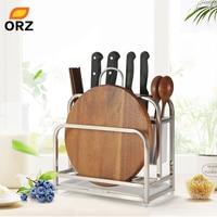 ORZ Kitchen Cutting Boards Organizer Knife Block with Drainboard Cutlery Tableware Holder Kitchen Accessories Storage DryingRack