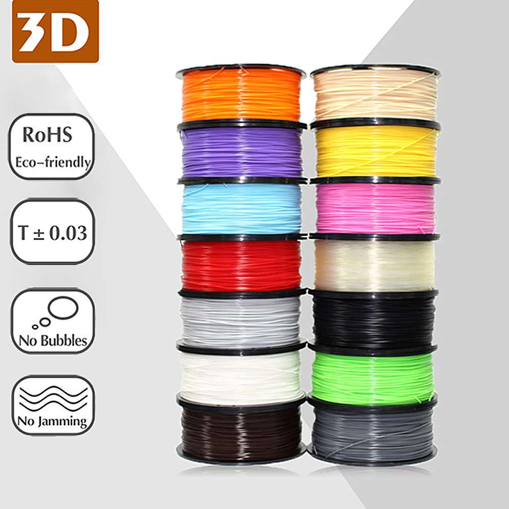 3D Printer Colorful 1KG/Roll 1.75mm ABS Filament for Extruder Pen 3D Printing Material
