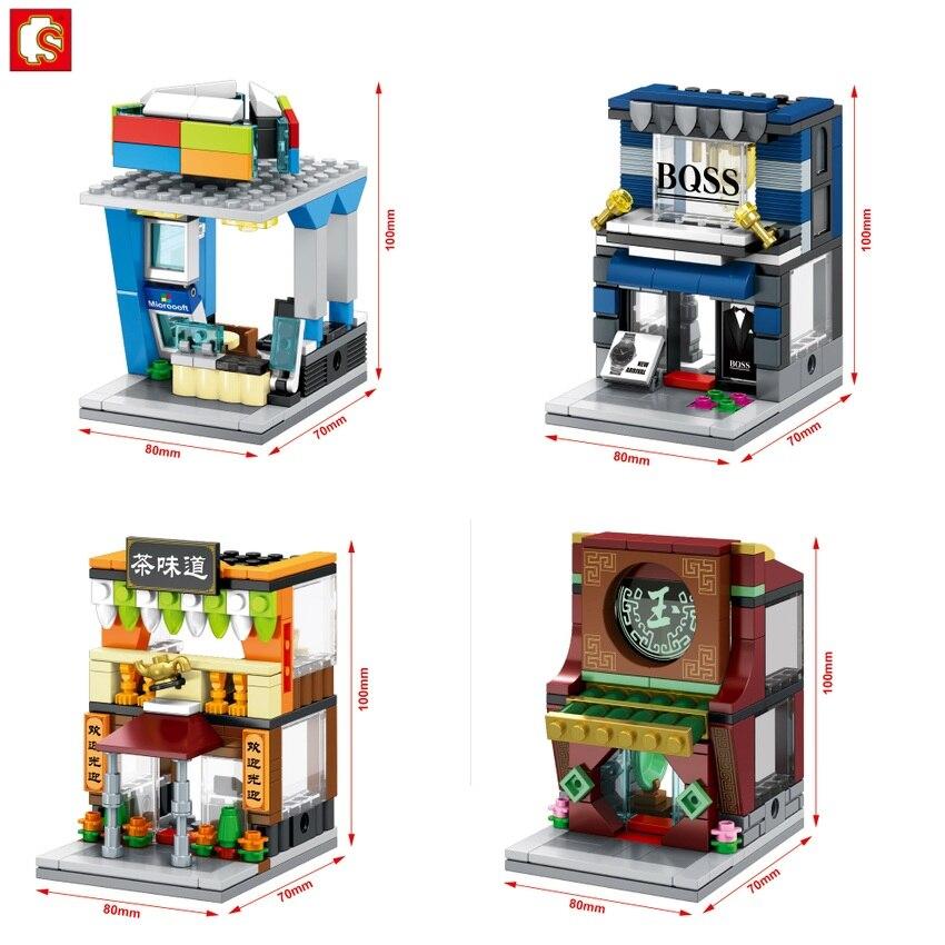 SEMBO Blocks Mini Shop DIY Building Bricks Micro street ...