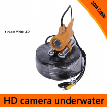 цены Underwater Fishing Camera Fish Finder 24pcs White LED 20M / 30M Cable PAL TV System Underwater Camera