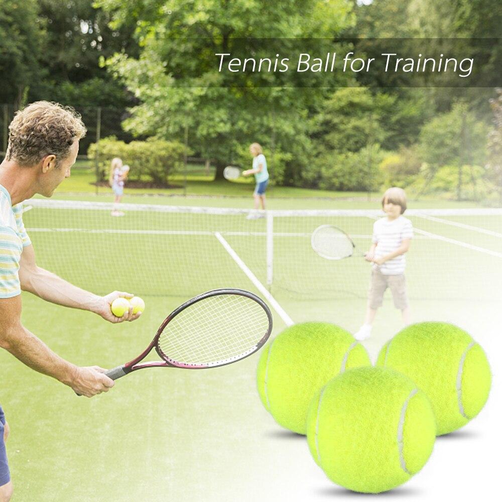 3 PCS Tennis Balls Reusable Practice Exercise Tennis Balls Training Tool Equipment Tennis Balls
