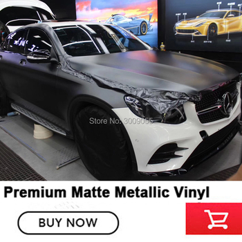 Grey Vinyl Wrap | Premium Wrapping Vinyl Film Matte Metal Dark Grey Vinyl Foil For High-end Cars Full Vehicle Wraps Quality 4-5years Guaranteed