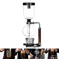 Hand Siphon Coffee Maker Pot vacuum coffee brewer siphon Durable Heat resistant Glass Coffee Machine Filter for Home Kitchen Use