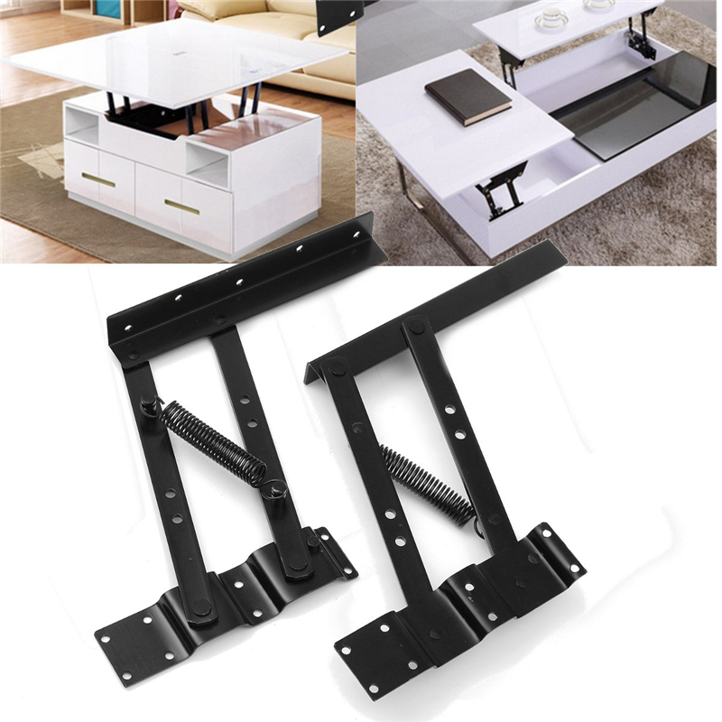 2Pcs Lift Up Top Coffee Table Lifting Frame Mechanism Furniture Spring Hinges PZ