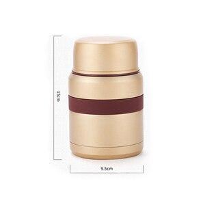 Image 5 - 4 couleurs pour la nourriture chaude 350mL avec des récipients thermos Thermoses acier inoxydable mini boîte à déjeuner thermo tasse flacons sous vide