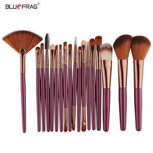 Pro Makeup Brushes Full Set 6/15/18Pcs Cosmetic Powder Eye Shadow Foundation Blush Blending Make Up Brush Maquiagem Beauty Tool(China)